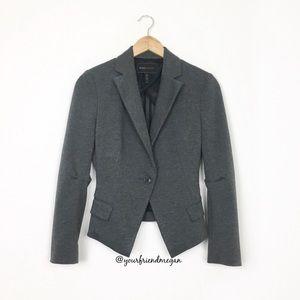 BCBGMaxAzria Asymmetrical Single Button Blazer